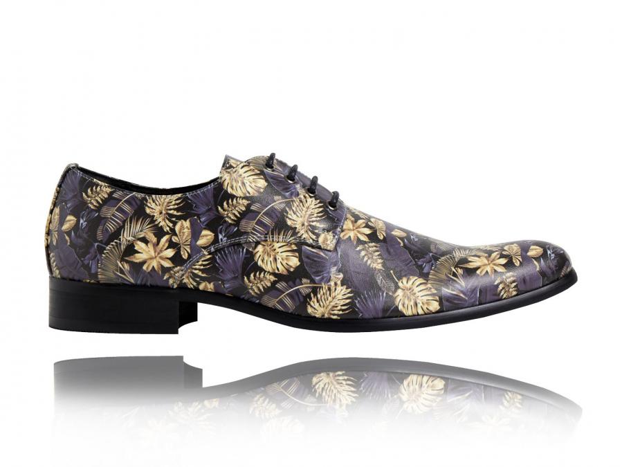 Fleurs, Imprimé, Chaussures, Lureaux, Bleu, Beau, Spécial, Coloré